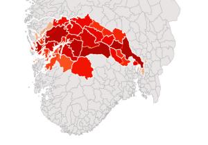DRABANTBYEN OSLO: Dette er kombinasjonene som kan sørge for at Oslo blir en del av Bergen. Popularitet angitt i grad av rødt.